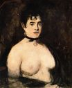 Brunette with bare breasts 1872