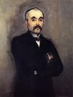 Édouard Manet most famous paintings. Portrait of Georges Clemenceau 1879