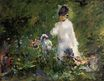 Young woman among the flowers 1879