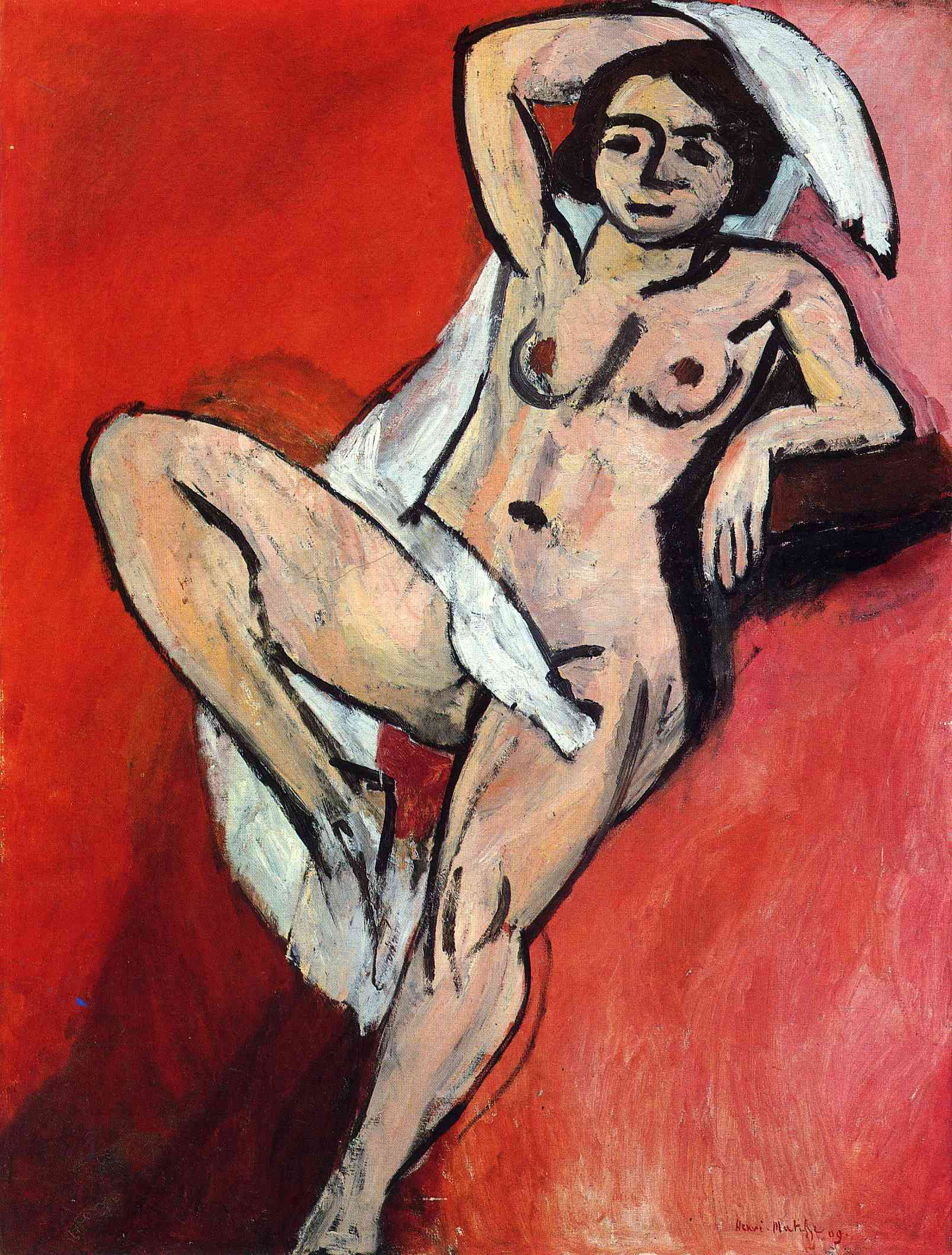 Nude with a White Scarf 1909