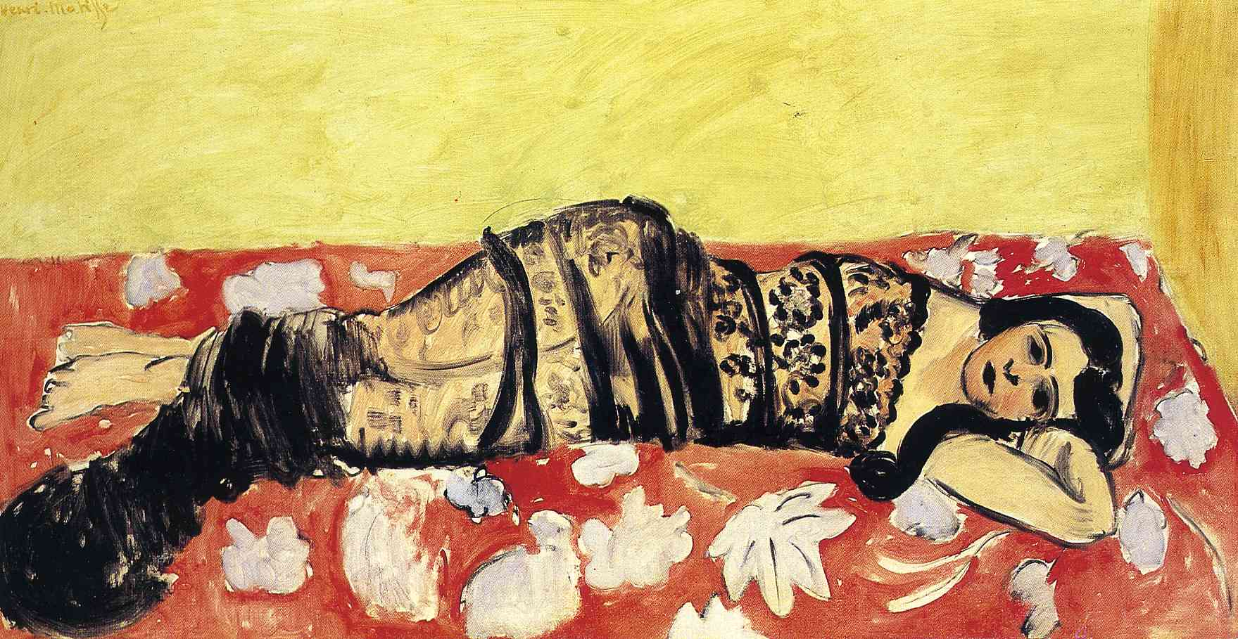 Lorette Reclining Wrapped in a Shawl 1916