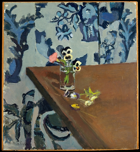 Pansies on a Table 1919