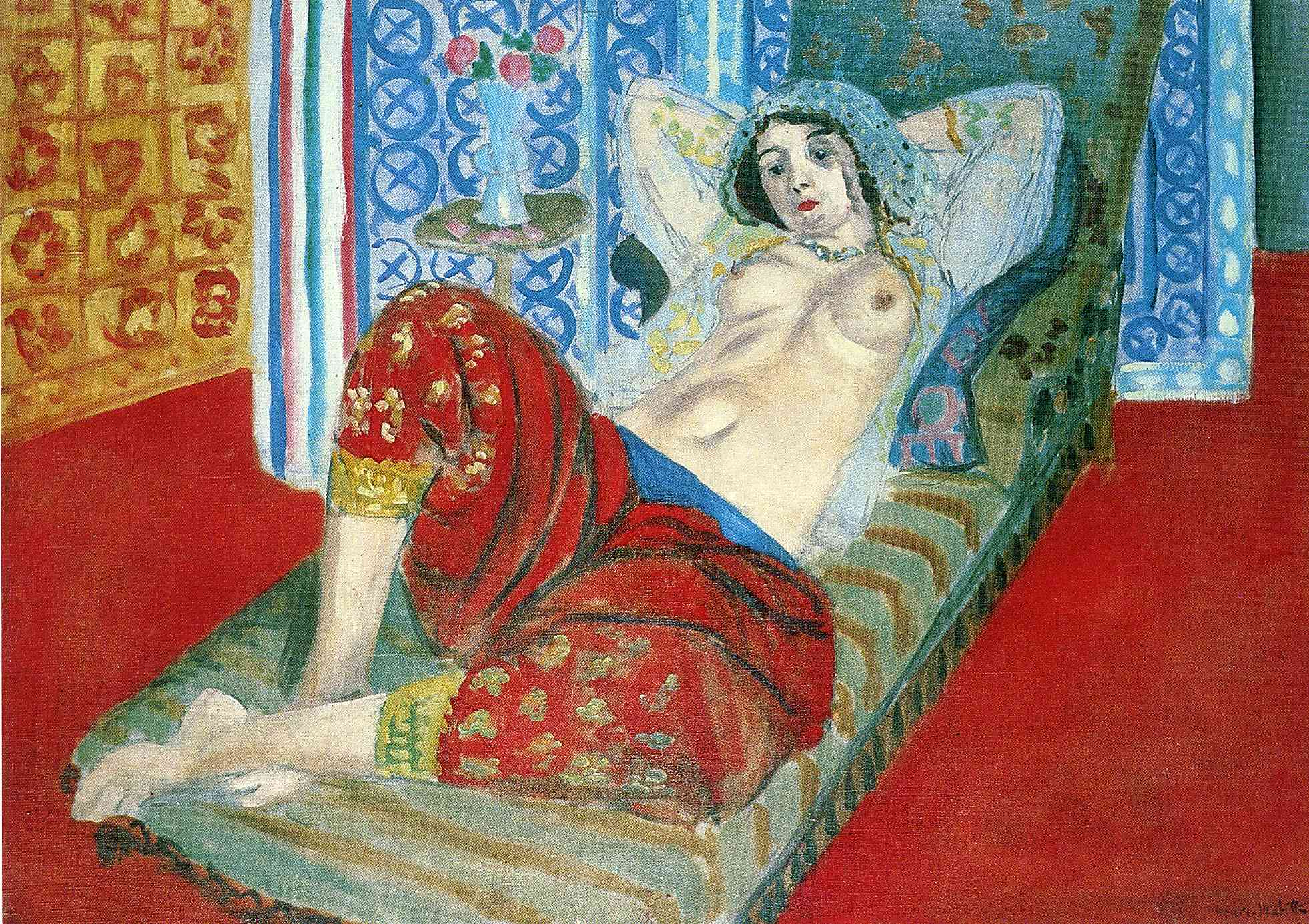 Odalisque in Red Culottes 1921