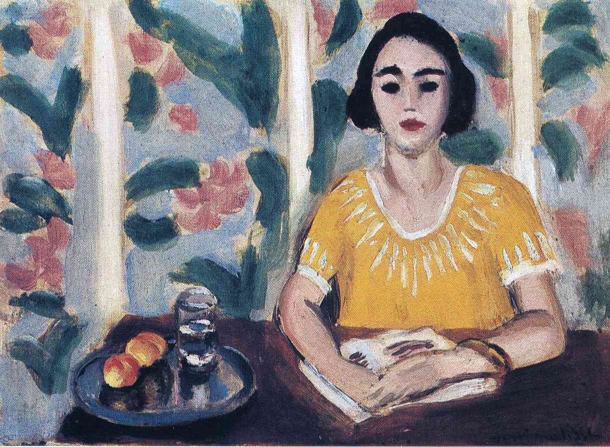 Woman Reading with Peaches 1923