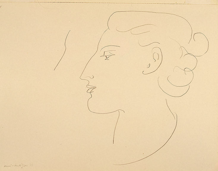 Woman in Profile. Turned to the Left 1935