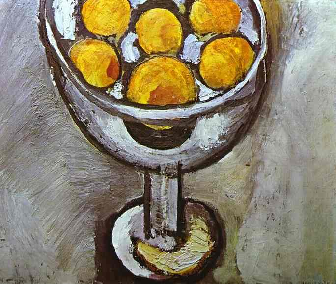 A vase with Oranges 1916