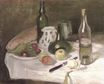 Still LIfe with Fruit and Bottles 1896
