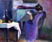 Reading Woman in Violet Dress 1898