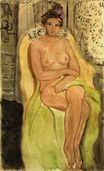 Nude in an Armchair, Legs Crossed 1920