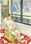 Nude with a Spanish Comb, Seated by a Window 1923