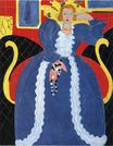 Woman in Blue. The Large Blue Robe and Mimosas 1937