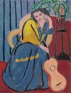 Girl in Yellow and Blue with Guitar 1939