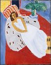 Young Woman in White, Red Background 1946