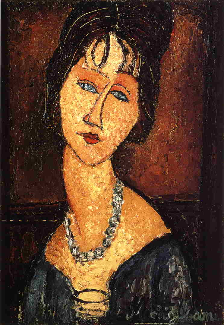 Amedeo Modigliani - Jeanne Hebuterne with Necklace 1917