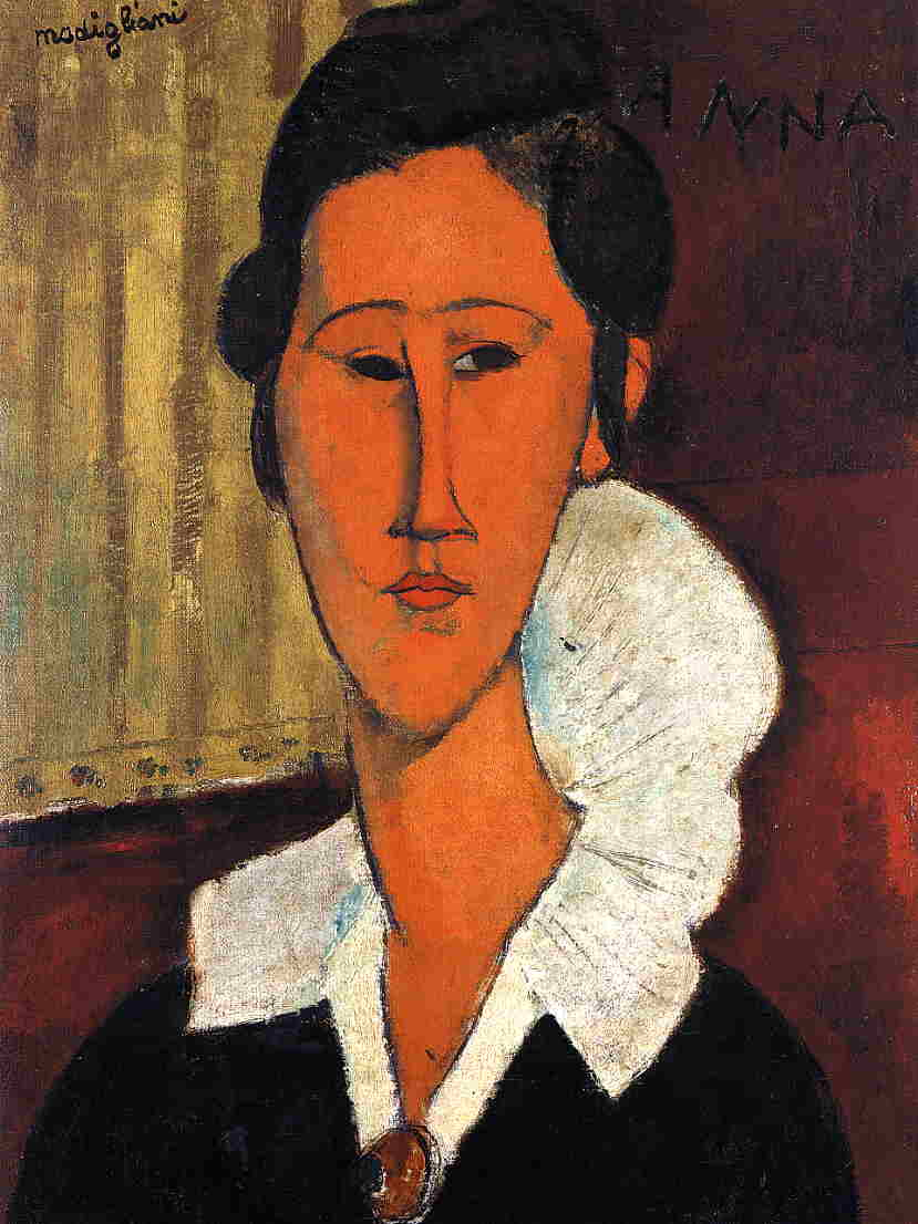 Amedeo Modigliani - Adrienne. Woman with Bangs 1917