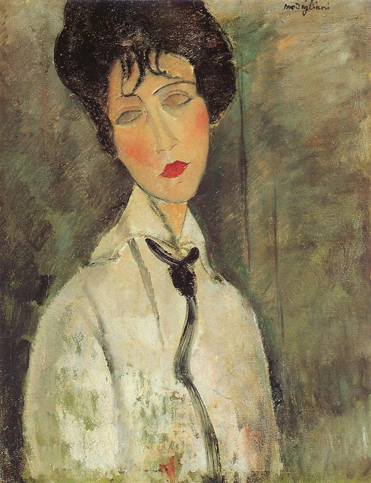 Amedeo Modigliani - Woman with a Black Tie 1917