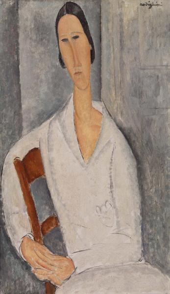 Amedeo Modigliani - Madame Hanka Zborowski Leaning on a Chair 1919