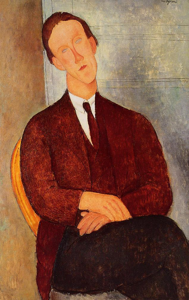 Amedeo Modigliani - Portrait of Morgan Russell 1918