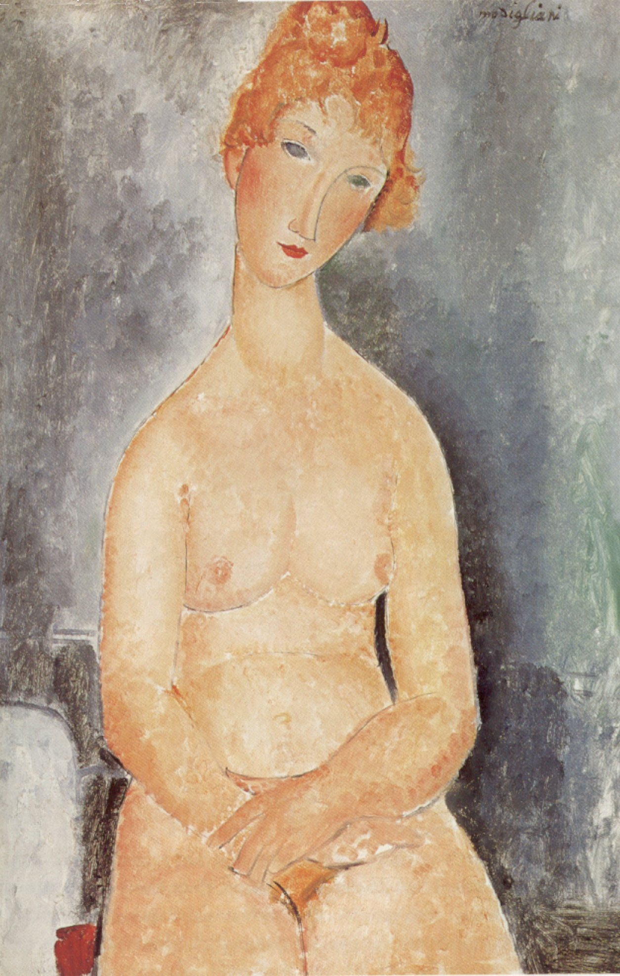 Amedeo Modigliani - Seated nude 1918