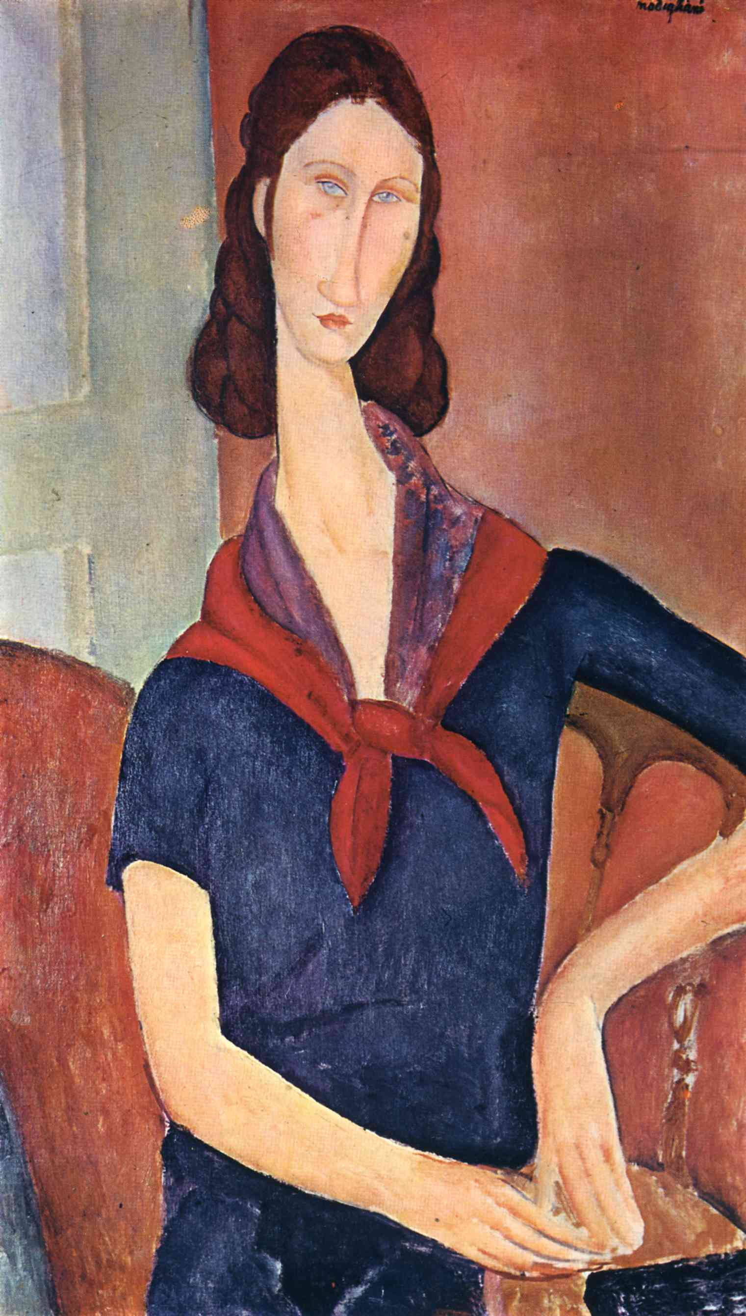 Amedeo Modigliani - Jeanne Hebuterne with a scarf 1919