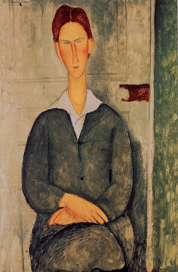 Amedeo Modigliani - Red-haired young man 1919