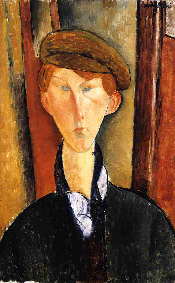 Amedeo Modigliani - Young Man with Cap 1919