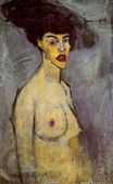 Amedeo Modigliani - Female nude with Hat 1908