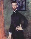 Amedeo Modigliani - Portrait of Paul Alexander on green background 1909