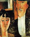 Amedeo Modigliani - Bride and Groom. The Couple 1915