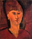 Amedeo Modigliani - Head of Red-haired Woman 1915