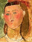 Amedeo Modigliani - Little Girl with Hair 1915