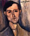 Amedeo Modigliani - Man's Head. Portrait of a Poet 1915