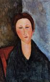 Amedeo Modigliani - Bust of a Young Woman. Mademoiselle Marthe 1915-1920