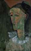 Amedeo Modigliani - Pierrot. Self Portrait as Pierrot 1915