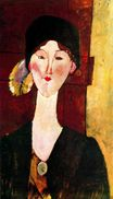 Amedeo Modigliani - Portrait of Beatrice Hastings before a door 1915