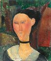 Amedeo Modigliani - A woman with velvet ribbon 1915