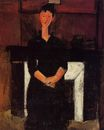Amedeo Modigliani - Woman Seated by a Fireplace 1915