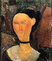 Amedeo Modigliani - Woman with Velvet Ribbon. The Black Border 1915