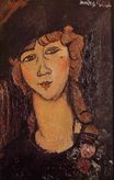 Amedeo Modigliani - Lolotte. Head of a Woman in a Hat 1916