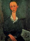 Amedeo Modigliani - A woman with white collar 1916