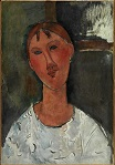 Amedeo Modigliani - Fillette à la blouse blanche 1915