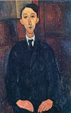 Amedeo Modigliani - Portrait of the painter Manuel Humbert 1916