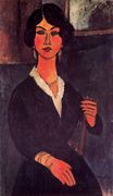 Amedeo Modigliani - Seated Algerian Almaiisa 1916