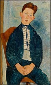 Amedeo Modigliani - Boy in a Striped Sweater 1918