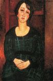Amedeo Modigliani - Woman with Scottish Dress 1916