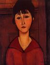 Amedeo Modigliani - Head of a Young Girl. Tete de Jeune Fille 1916
