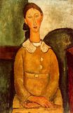 Amedeo Modigliani - A girl in yellow dress 1917