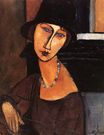 Amedeo Modigliani - Jeanne Hebuterne with Hat and Necklace 1917