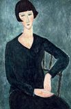 Amedeo Modigliani - Woman Sitting in Blue Dress 1917-1919