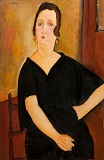 Amedeo Modigliani - Madame Amédée. Woman with Cigarette 1918